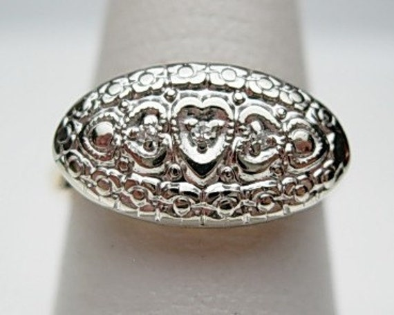 10kt Princess Ring Hearts By Klinesjewelry On Etsy