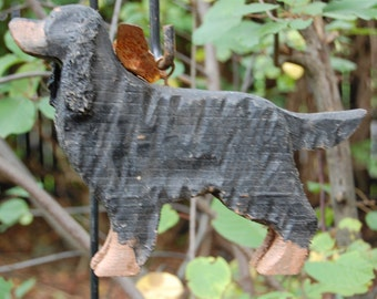 carved gordon setter
