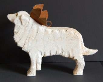 carved great pyrenees