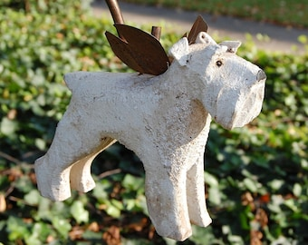 carved white schnauzer