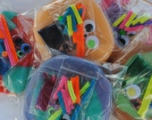 RESERVED for Antonia....Make a MONSTER, play dough party favor craft kits, Set of 20