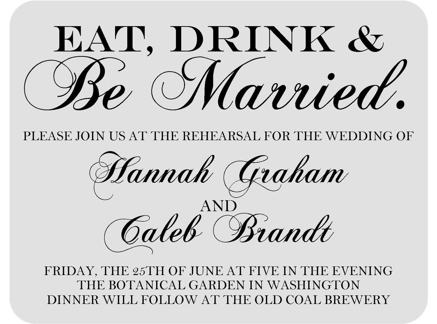 Who Is Invited To The Wedding Rehearsal Dinner: Wedding Rehearsal Dinner Invitations FREE SHIPPING