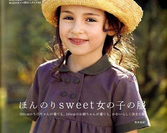 Girls Clothing Patterns - Yuki Araki - Japanese Sewing Pattern Book for Girl Dress, Easy Sewing Tutorial, Skirt, Coat, Camisole, Hat - B819