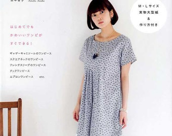 Easy One-Piece Dress Patterns - Tomoko Tanaka - Japanese Sewin Pattern Book for Women Clothing, Easy Sewing Tutorial, Camisole, Vest, B863