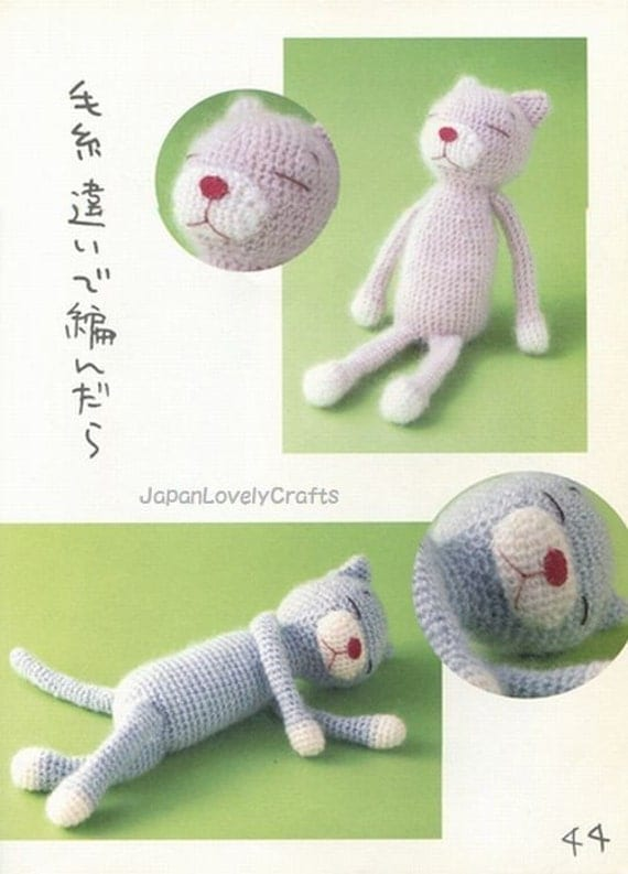 Cat Amigurumi Patterns, Amineko Life, Nekoyama - Japanese ...