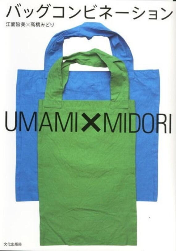 Bag Combination by Umami & Midori Takahashi - Japanese Sewing Pattern Book for Stylish Bags - Yoshimi Ezura - B145