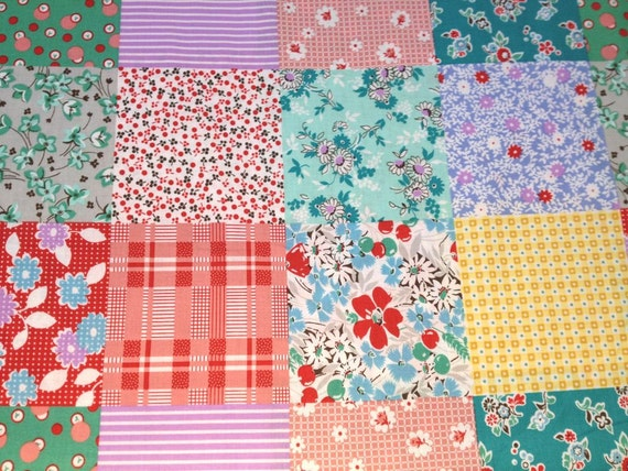 Japanese Cotton Print Fabric - Daiwabo, Panel - Patchwork A - NT319