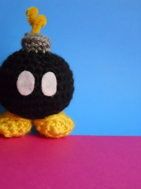 RUSH ORDER - MINI Bob-Omb - Cute Amigurumi Crochet Plush Toy inspired by Super Mario Bros