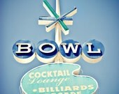 BOWL Googie Neon Sign - 5x7 Fine Art Photography Print
