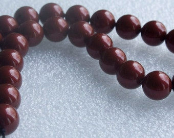One strand 10mm Swarovski Pearls Bourdeaux
