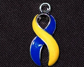 Blue and Yellow Awareness Charm - SALE