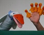 Hand puppet - Mother Duck & 5 Little Ducks Finger Puppets
