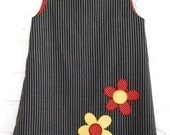 Dress - Pinstripe Flower Tunic