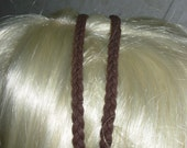 LEATHER  HEADBAND--SUEDE BRAID ADJUSTABLE HEADBAND