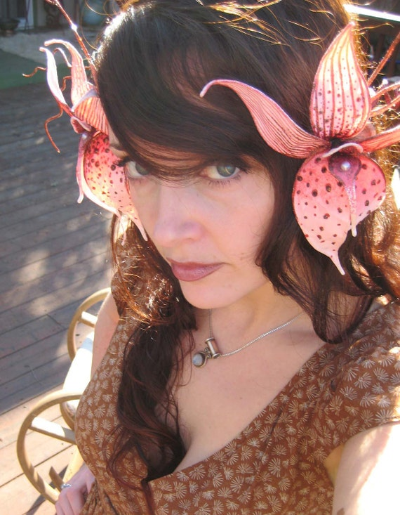 Wild Orchid Headdress