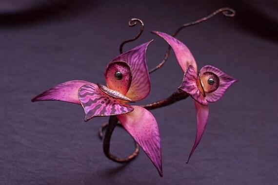 Silk Orchid Hair Flower