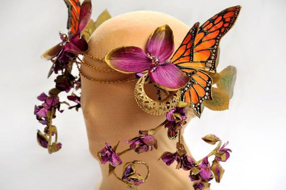 Monarch Butterfly Headdress