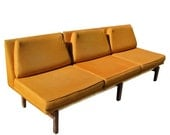 Vintage Mid Century Modern Danish Modern Orange Tweed Couch Sofa  FREE SHIPPING - Modnique