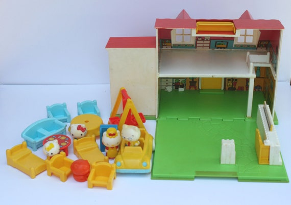 Hello Kitty Toy House : Vintage hello kitty play set japanese dollhouse by