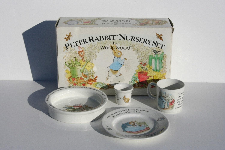 Vintage 4 Piece Beatrice Potter Peter Rabbit Nursery Set By
