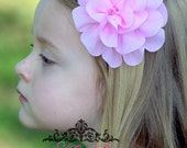CLEARANCE---Pink Chiffon Flower Clip