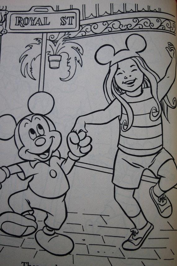 Walt Disney's Disneyland VINTAGE Coloring Book