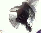 Glamour hair clip hat with rose