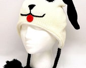 Crochet Animal Hat With Ear Flaps and Braids