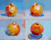 4 Clementines Painting 11x14