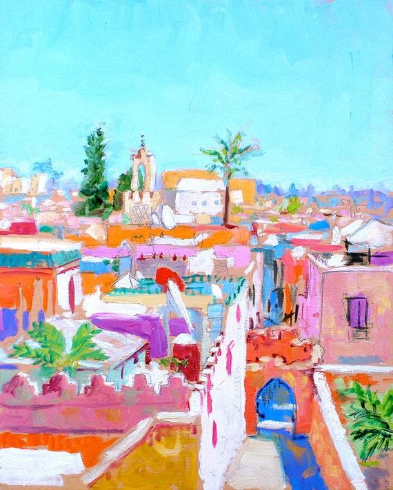 Marrakech Rooftops,  print 8x10