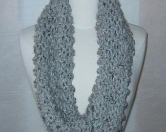Soft and Plush Light Grey Gray Cowl Scarf Neck Warmer