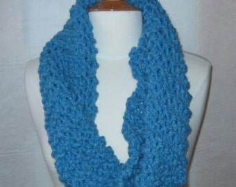Soft and Plush Sky Blue Cowl Scarf Neck Warmer