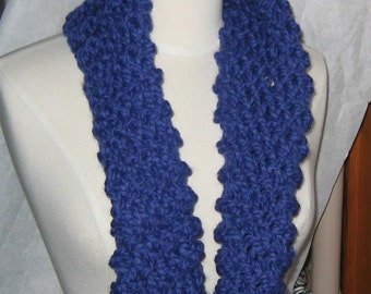 Soft and Plush Cobalt Blue Cowl Scarf Neck Warmer