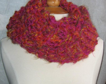 Fuschia on Fire Infinity Cowl Scarf