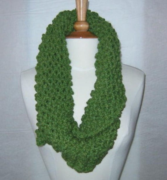 Soft and Plush Lemongrass Green Cowl Scarf Neck Warmer