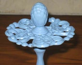 Vintage Shabby Chic Periwinkle Painted Metal Toothbrush Holder