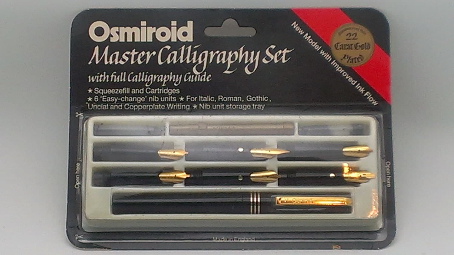 vintage osmiroid master calligraphy set 6 nibs factory sealed. Black Bedroom Furniture Sets. Home Design Ideas