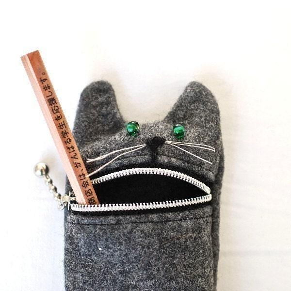 Pencil case Eyeglass case: cute Hungry cat pencil / eyeglass