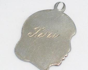 pre owned vintage estate Teri 1960 girl birthday birth theme 925 sterling silver bracelet charm or pendant