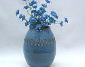 Handmade Blue Stoneware Vase