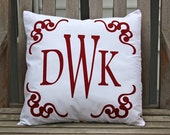 custom monogram pillow.  date or full name.  comes in any color or design.