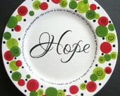 Custom Personalized HOPE Christmas Plate