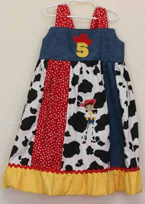 Jesse Toy Story inspired Knot Dress Custom Made Disney on Ice