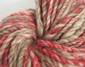 Handspun Yarn  Hand Dyed Corriedale Wool Petals and Concrete 2 Ply