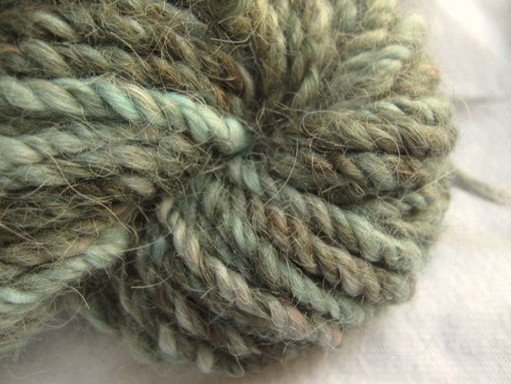 Alpaca Handspun Yarn - Peruvian -  Hand Dyed Yarn 3 Ply Bulky Yarn - Riverbank