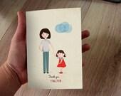 thank you card teacher