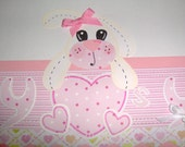 Somebunny loves you it's me SEWN BORDER paper piecing scrapbook