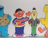 Sesame Street Friends Bert, Ernie, Cookie Monster, and Big Bird Paper piecings 5 inches