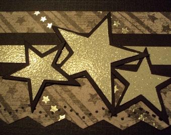 ROCK STAR premade scrapbooking border paper piecing