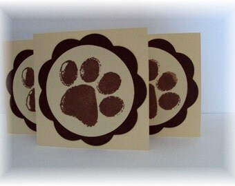 Dog Paws mini note CARDS